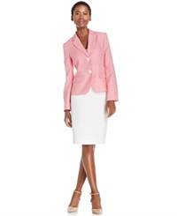 Le Suit Skirt Suit Unmatched Striped Jacket