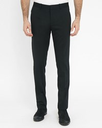 Ikks Black Wool Suit Trousers