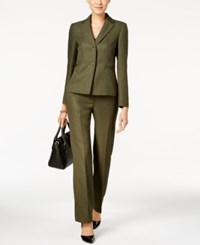 Le Suit Two Button Pantsuit Hunter