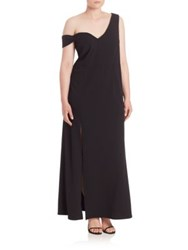 Abs Plus Size One Side Off The Shoulder Gown Black