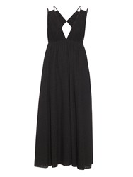 Tomas Maier Cut Out Back Eyelet Cotton Midi Dress