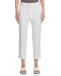 Vince Cuffed Crop Chino Pants White