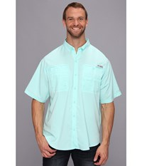 Columbia Big Tall Tamiami Ii S S Gulf Stream Men's Short Sleeve Button Up Blue