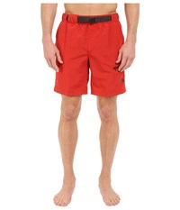 The North Face Belted Guide Trunks Pompeian Red Men's Shorts Beige