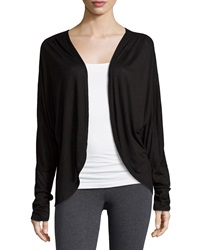 Electric Yoga Open Front Cocoon Cardigan Black