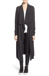 Leith 'Waterfall' Long Cardigan Grey Medium Charcoal Heather