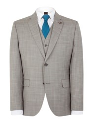 Gibson Taupe Check Marriott Jacket Grey