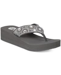 Yellow Box Power Platform Flip Flops Women's Shoes Gray