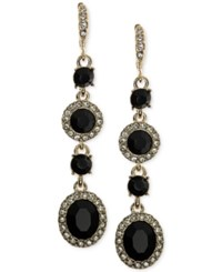 Givenchy Faceted Stone And Crystal Long Linear Drop Earrings Black