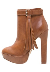 Lipsy Katie Ankle Boots Tan