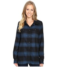 Kavu Wynonna Top Nightshade Women's Long Sleeve Button Up Gray