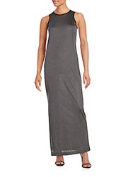 Atm Anthony Thomas Melillo Solid Fitted Sleeveless Dress Heather Black