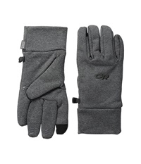 Outdoor Research Pl 400 Sensor Gloves Charcoal Heather Extreme Cold Weather Gloves Gray