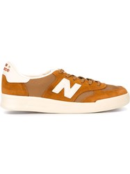 New Balance Lace Up Sneakers Yellow And Orange