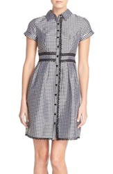 Women's Adrianna Papell Gingham Taffeta Shirtdress