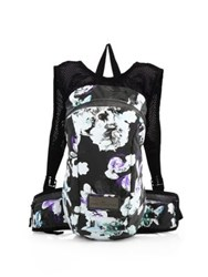 Adidas By Stella Mccartney Pr Multicolor Floral Backpack Black White