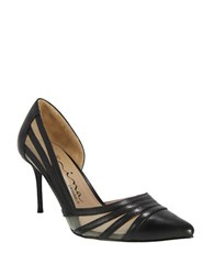 Nina Day Mesh Accented Leather D Orsay Pumps Black