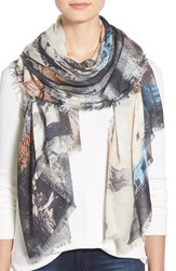 Lily And Lionel Women's Lily And Lionel 'Hampstead' Print Modal And Silk Scarf