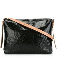 Maison Martin Margiela Mm6 Cracked Leather Effect Crossbody Bag Black