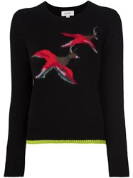 Coach Bird Intarsia Sweater Black