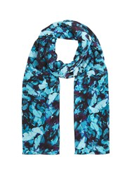 Precis Petite Teal Floral Print Scarf