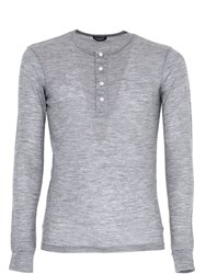 Dsquared Stretch Wool Jersey Henley T Shirt