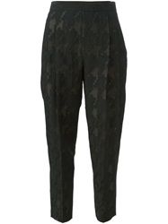 Paul Smith Black Label Cropped Jacquard Trousers