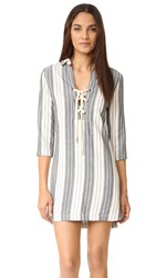 Maven West Jackie Lace Up Dress Grey Stripe