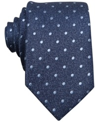 Bar Iii Carnaby Collection Hyde Dot Skinny Tie Blue