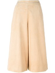 Manoush Cropped Palazzo Pants Nude And Neutrals