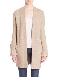 Theory Analiese Open Front Cardigan Oatmeal
