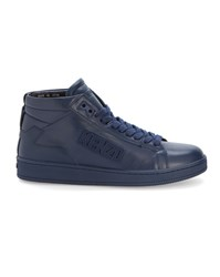 Kenzo Navy Tearx Logo High Top Sneakers Blue