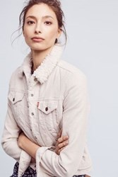 Anthropologie Levi's Cord Sherpa Jacket Ivory