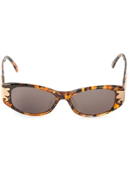 Christian Lacroix Vintage Cat Eye Frames Sunglasses Brown