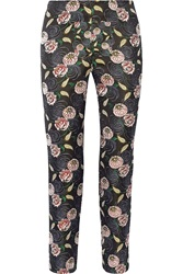 Suno Floral Jacquard Tapered Pants