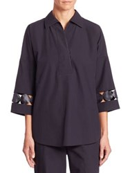 Akris Punto Tunic With Lace Detail