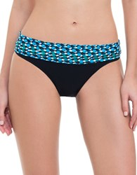 Gottex Printed Foldover Bottom Blue