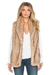 Sanctuary Hollywood Faux Fur Vest Tan