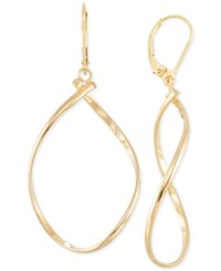 Macy's Polished Twist Illusion Drop Earrings In 14K Gold Yellow Gold