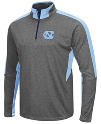 Colosseum Men's North Carolina Tar Heels Atlas Quarter Zip Pullover Charcoal