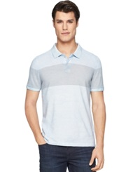 Calvin Klein Jeans Pigment Over Dyed Striped Polo Windchill