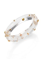 Alexis Bittar Lucite Studded Bangle Bracelet Clear