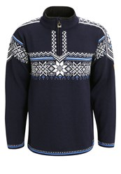 Dale Of Norway Holmenkollen Jumper Navy Off White Cobalt Dark Blue
