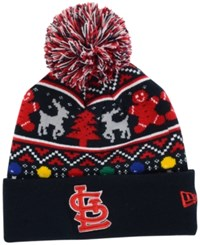 New Era St. Louis Cardinals Christmas Sweater Pom Knit Hat