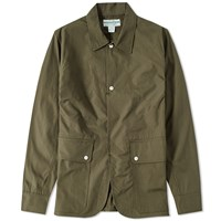 Sassafras Fall Leaf Poplin Jacket Green