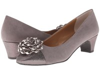 J. Renee Rashana Dark Gray Pewte Women's Slip On Dress Shoes Purple
