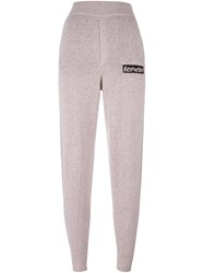 Alexander Wang Tender Patch Knitted Trousers Pink Purple