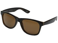 Vans Spicoli 4 Shades Black Honey Tortoise Clear Sport Sunglasses