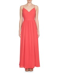 1.State Lace Up Back Maxi Dress Coral