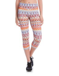 Karen Kane Printed Cropped Pants Orange